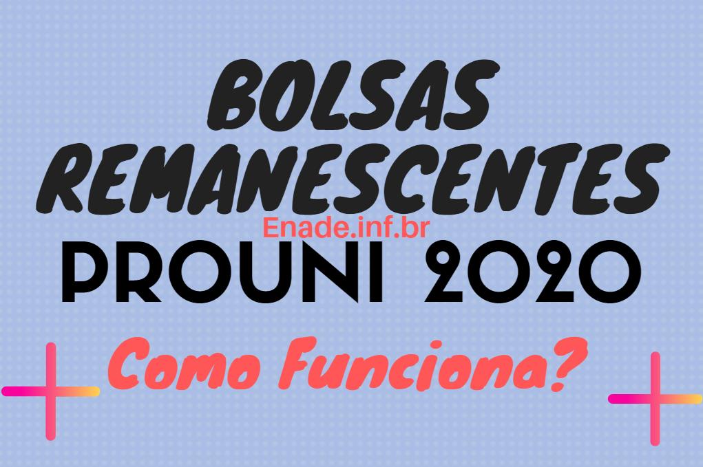 Bolsas Remanescentes PROUNI 2020