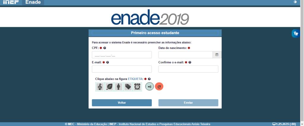 Data das Provas ENADE 2021